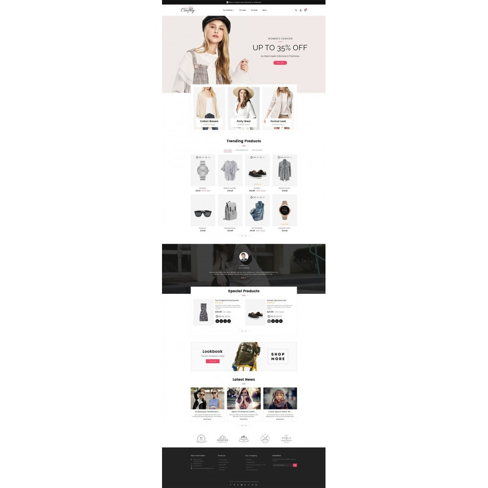 theme - Moda y Calzado - Craftly Fashion Apparels - 3