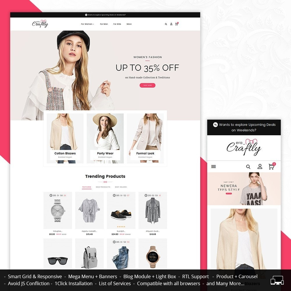 theme - Mode & Chaussures - Craftly Fashion Apparels - 2