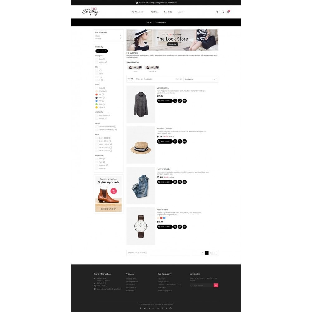 theme - Mode & Chaussures - Craftly Fashion Apparels - 4