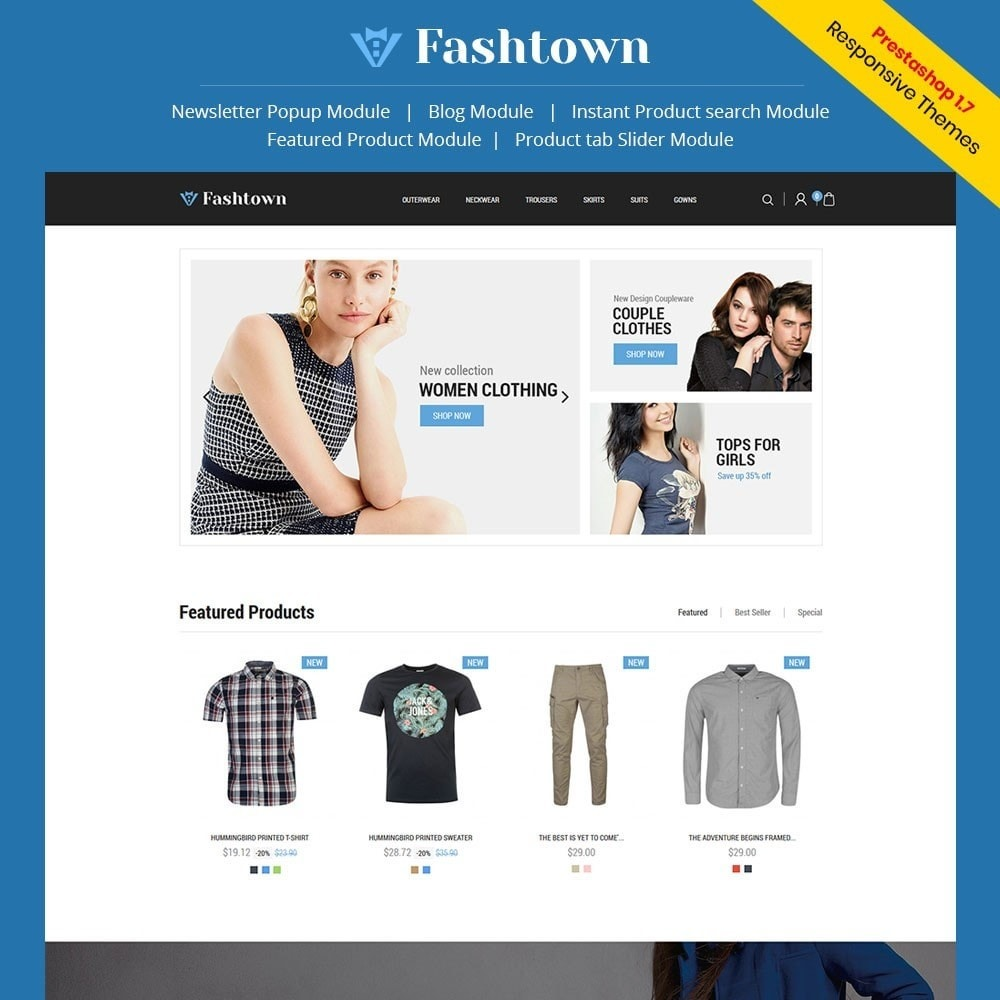 theme - Fashion & Shoes - Fashtown - Fashion Store - 1