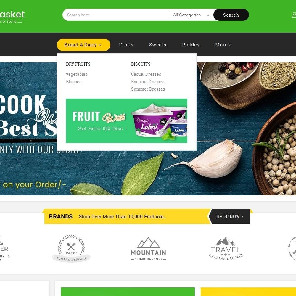 theme - Alimentation & Restauration - Big Basket Mega Grocery - 10