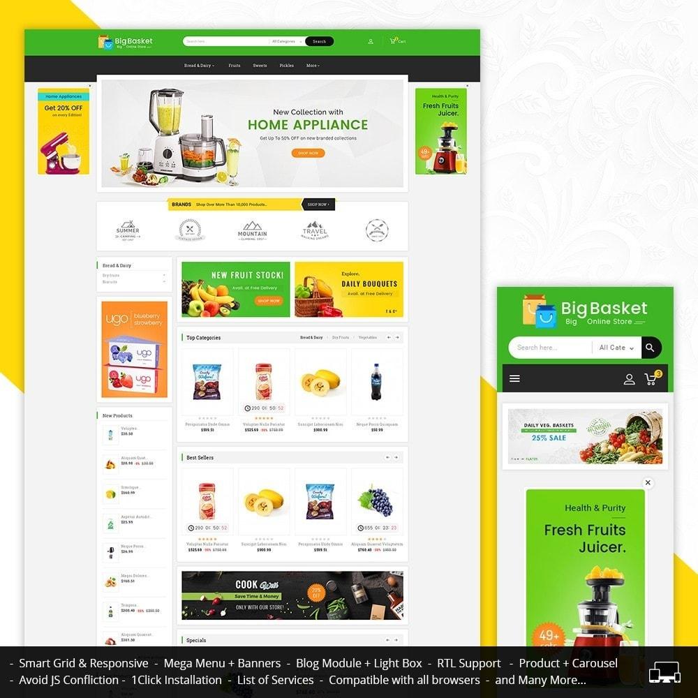 theme - Gastronomía y Restauración - Big Basket Mega Grocery - 2