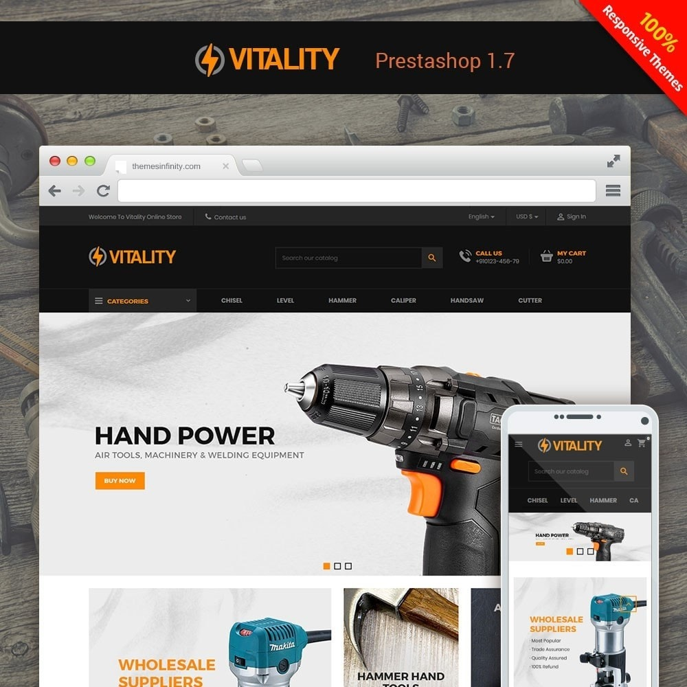 theme - Automotive & Cars - Vitality - Tools Online Store - 1