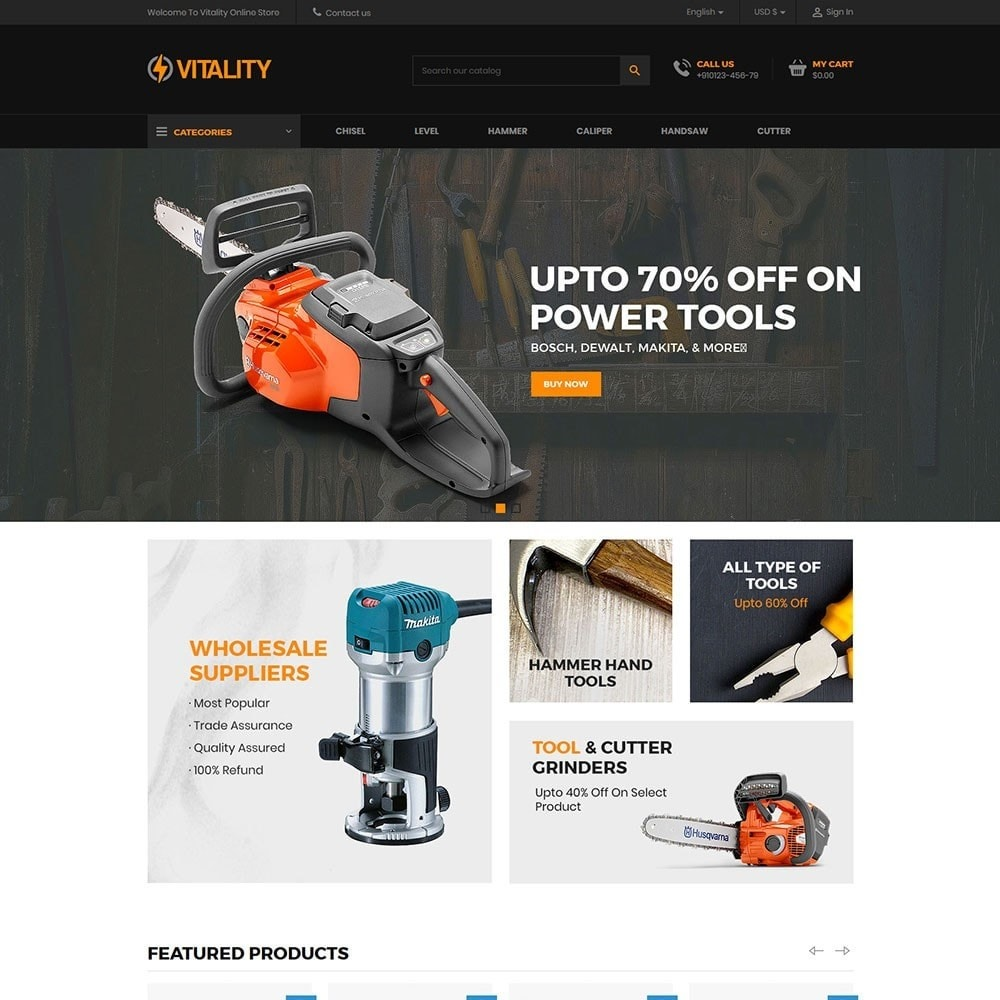 theme - Automotive & Cars - Vitality - Tools Online Store - 2