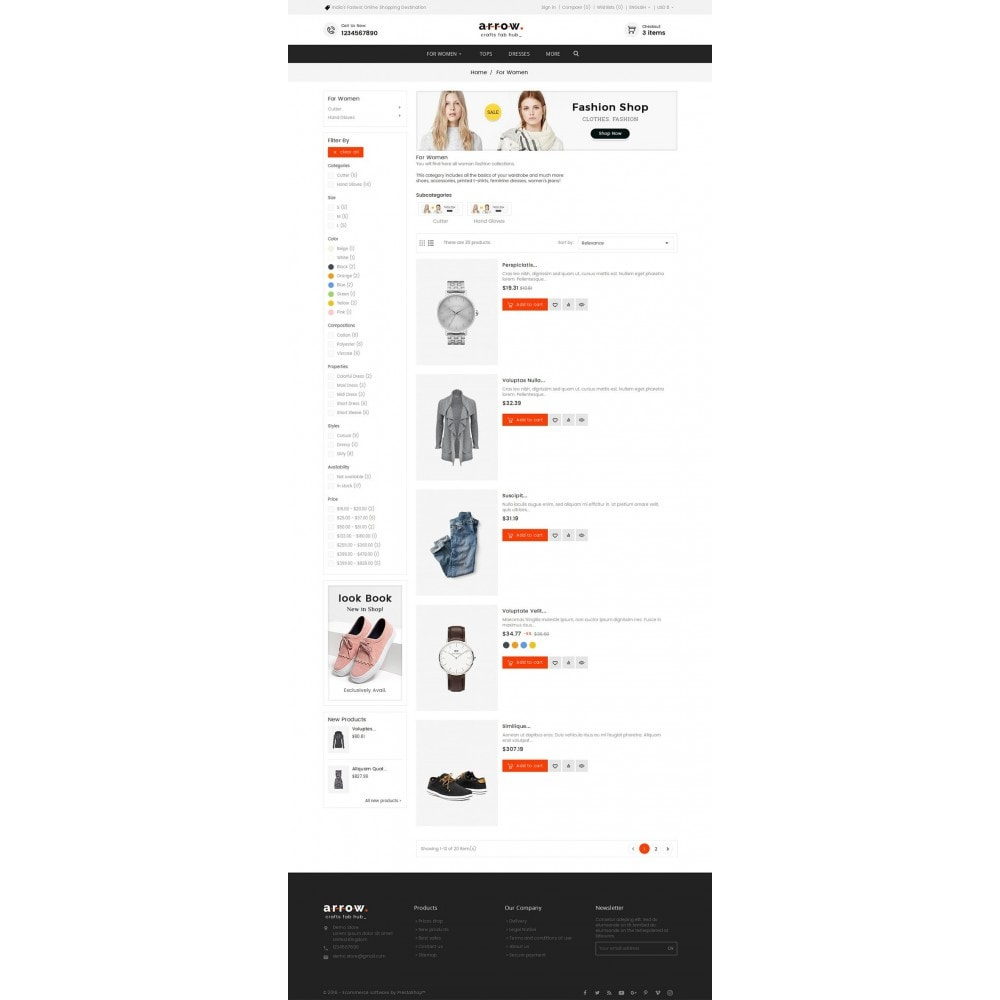 theme - Mode & Schuhe - Arrow Fashion Apparels - 5