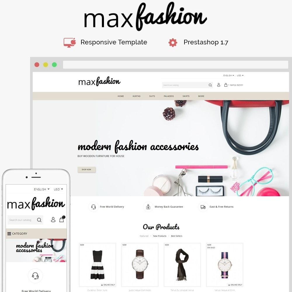 theme - Mode & Schoenen - MaxFashion Demo Store - 1