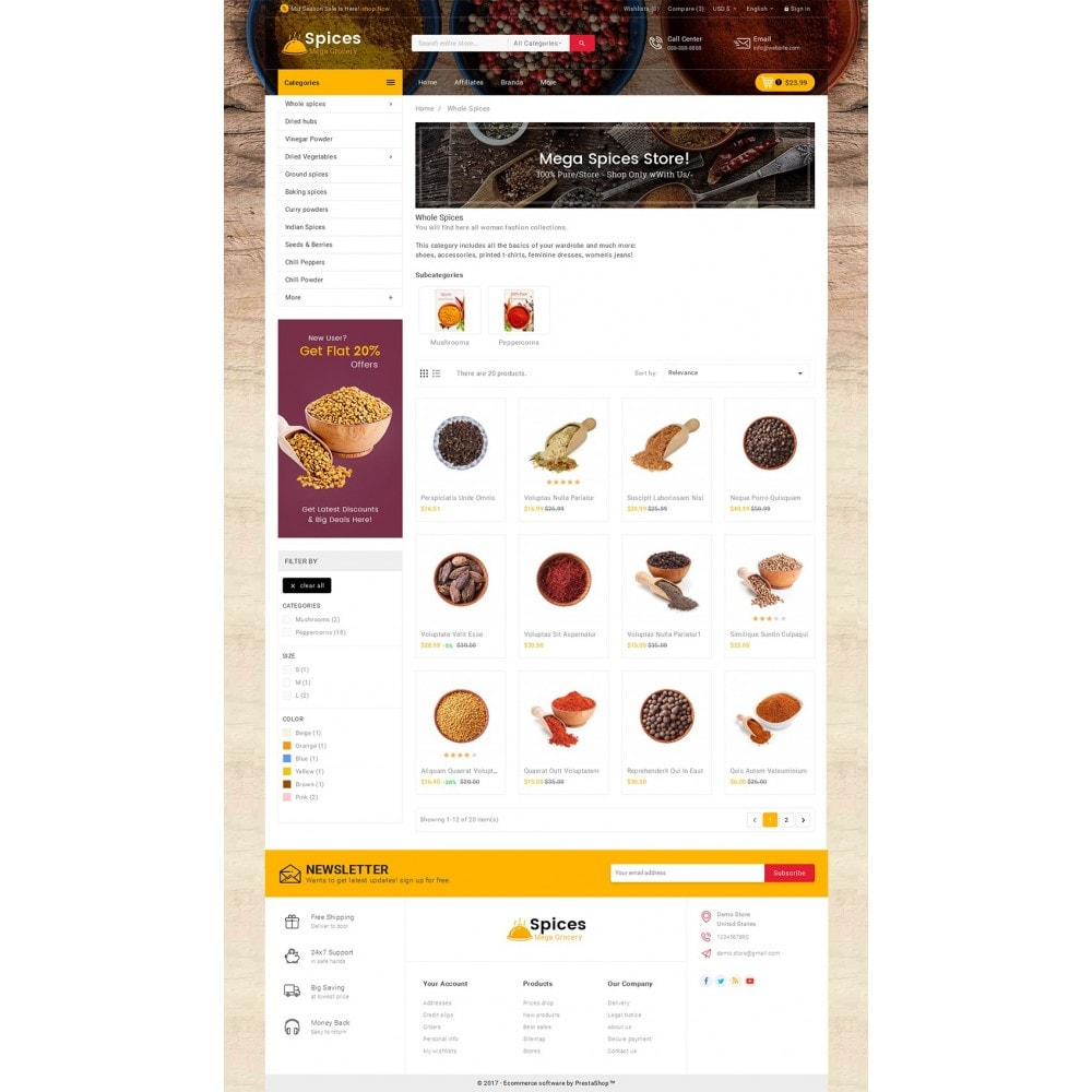 theme - Cibo & Ristorazione - Spices Mega Store - 4