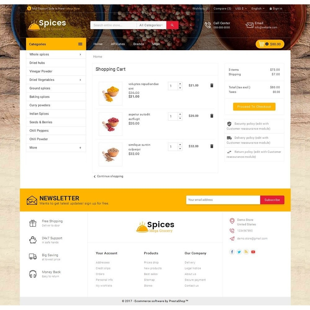 theme - Cibo & Ristorazione - Spices Mega Store - 7