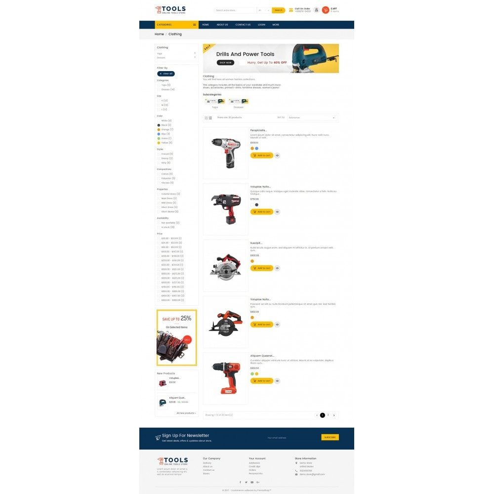 theme - Elettronica & High Tech - Mega Tools Store - 5