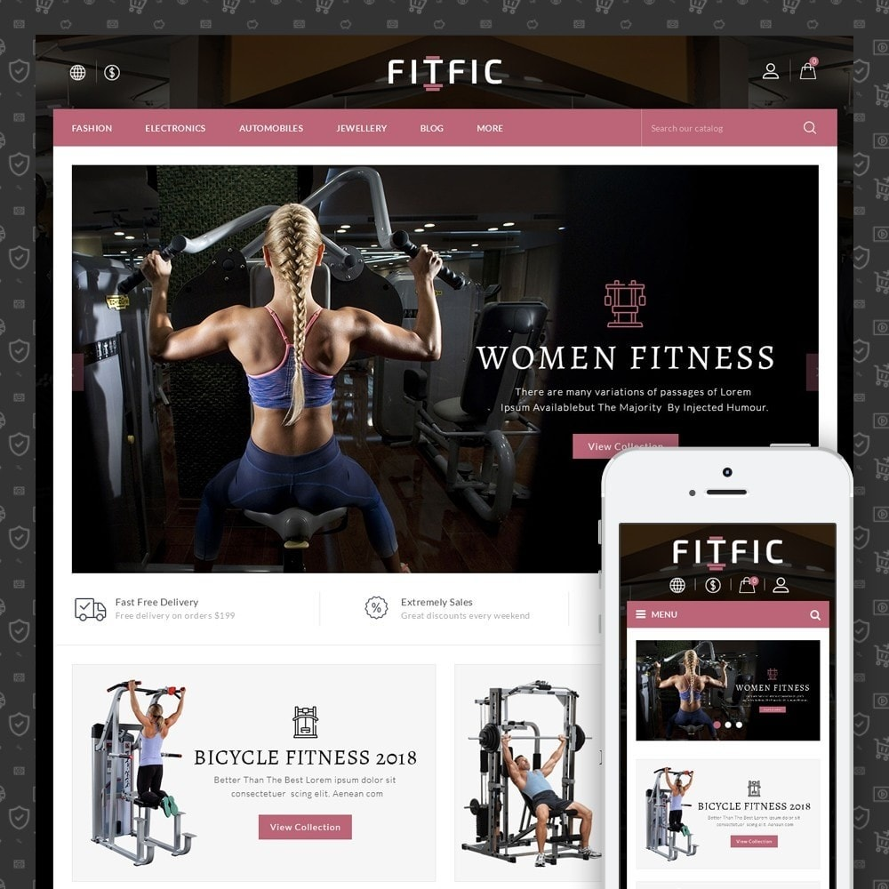 theme - Salute & Bellezza - FitFic - Fitness Store - 1