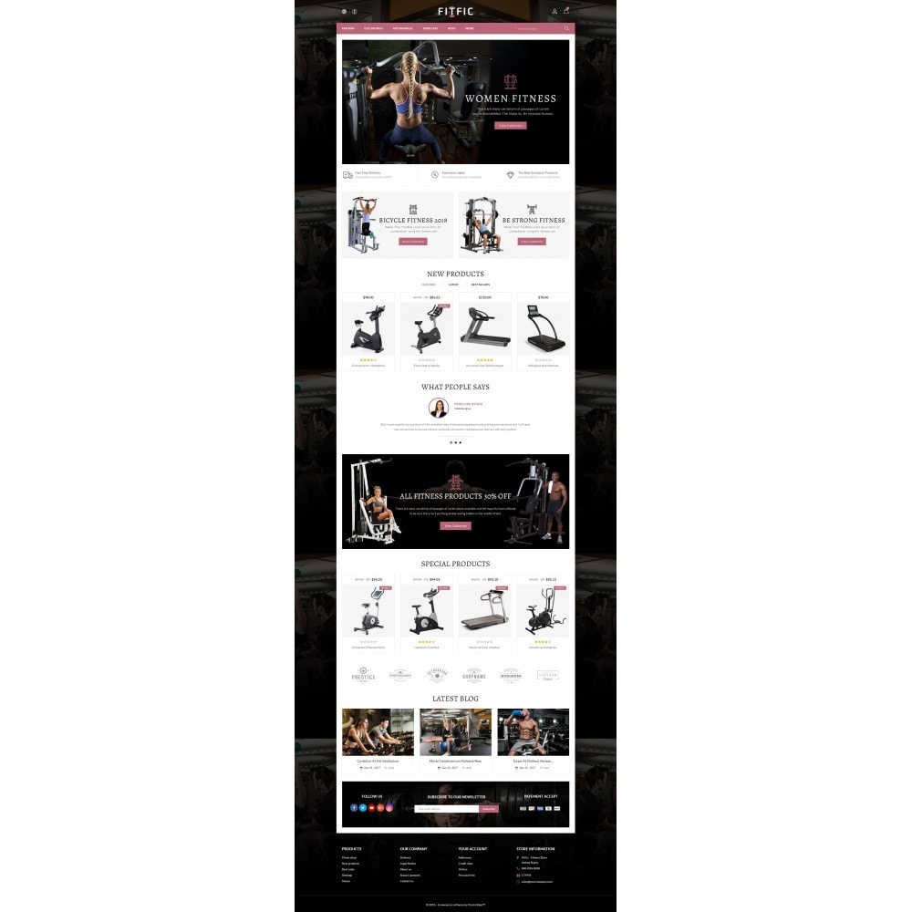 theme - Salute & Bellezza - FitFic - Fitness Store - 2