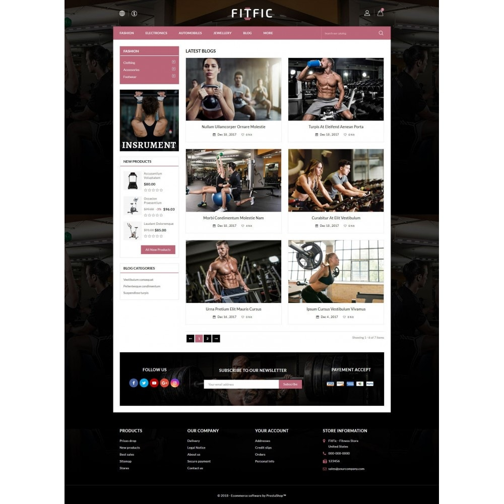 theme - Salute & Bellezza - FitFic - Fitness Store - 9