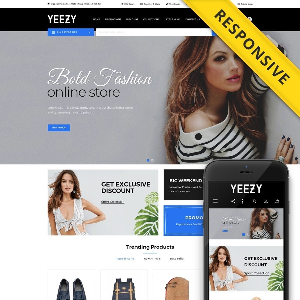 theme - Moda & Calçados - Yeezy Fashion Accessories Store - 1