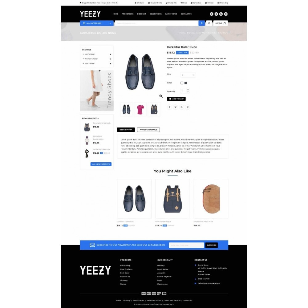 theme - Moda & Calçados - Yeezy Fashion Accessories Store - 4