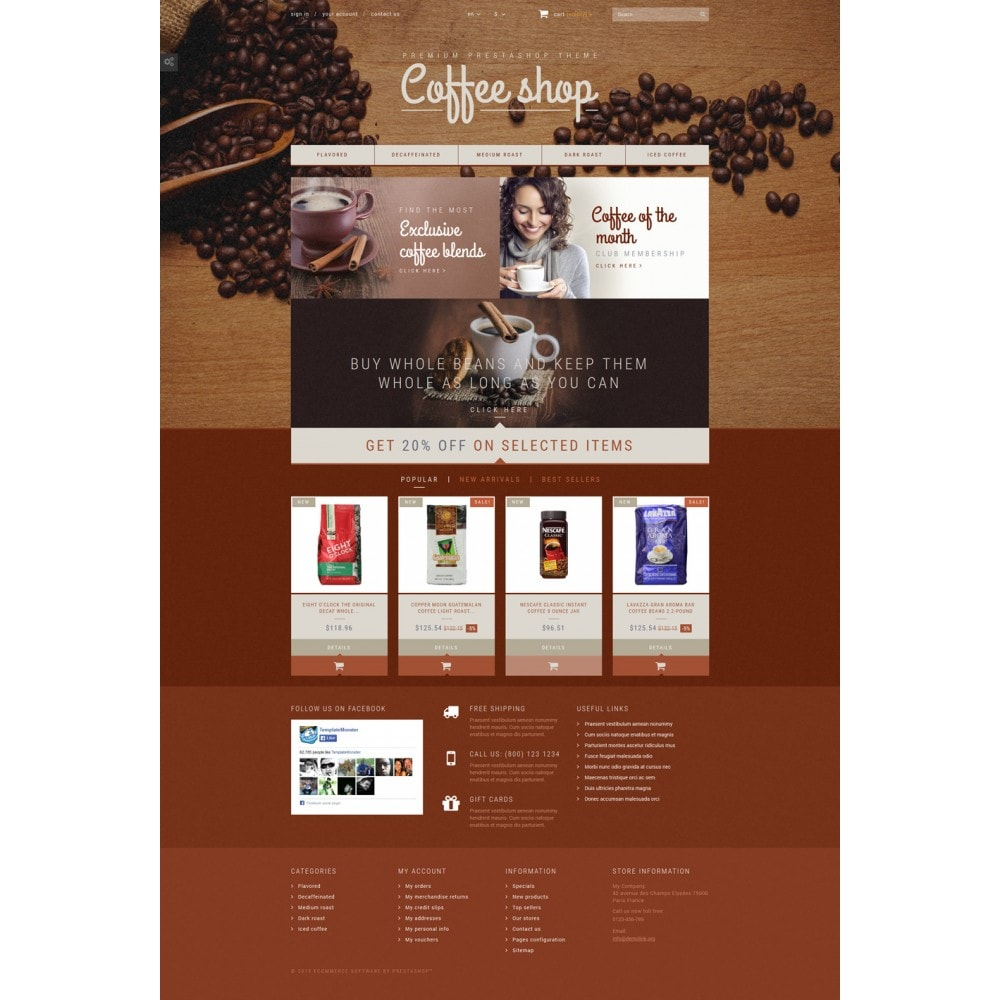 theme - Продовольствие и рестораны - Coffee Aroma - 2