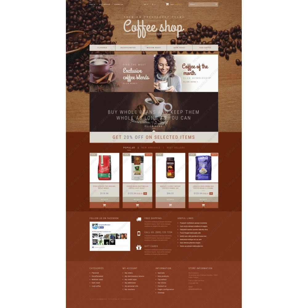 theme - Продовольствие и рестораны - Coffee Aroma - 3