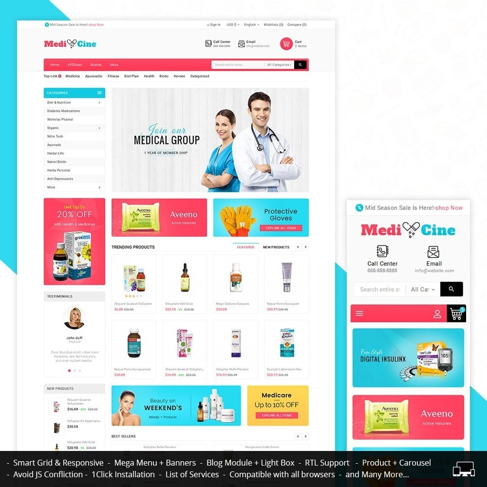 theme - Gesundheit & Schönheit - Medicine Mega Store - 2
