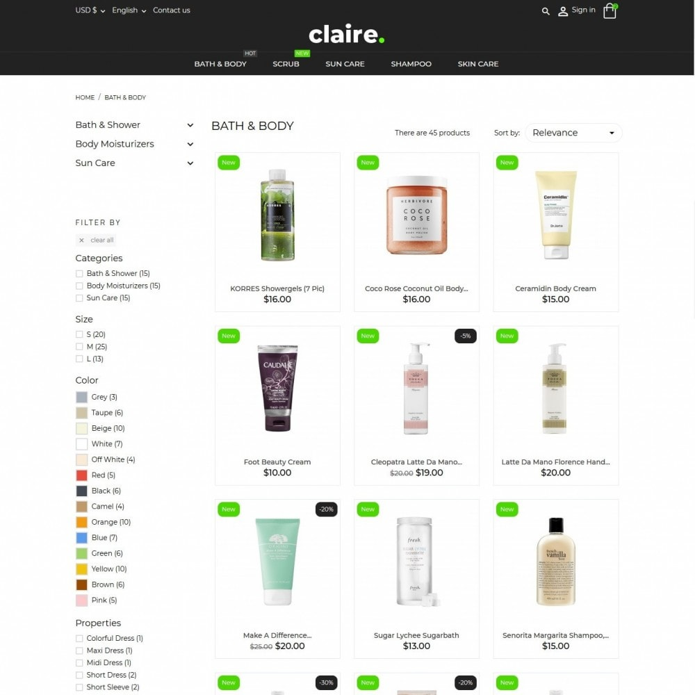 theme - Salute & Bellezza - Claire Cosmetics - 5