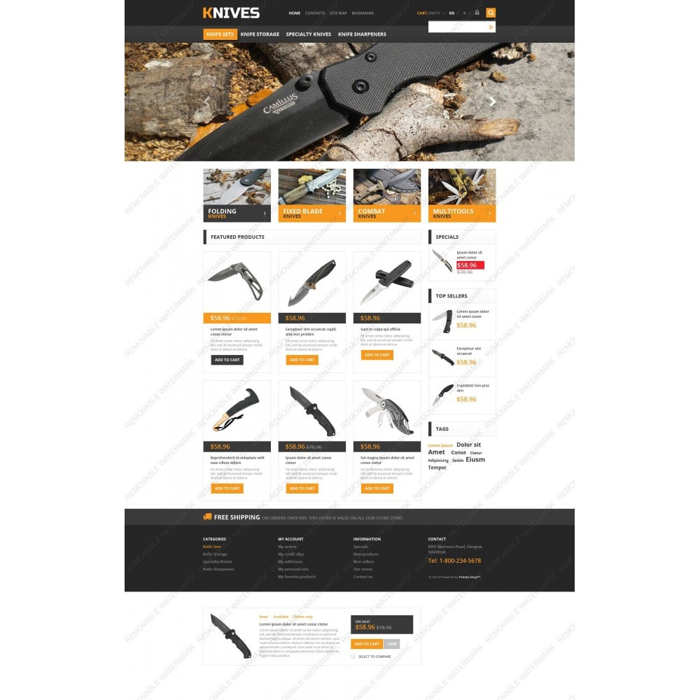 theme - Temas PrestaShop - Responsive Knives Store - 3