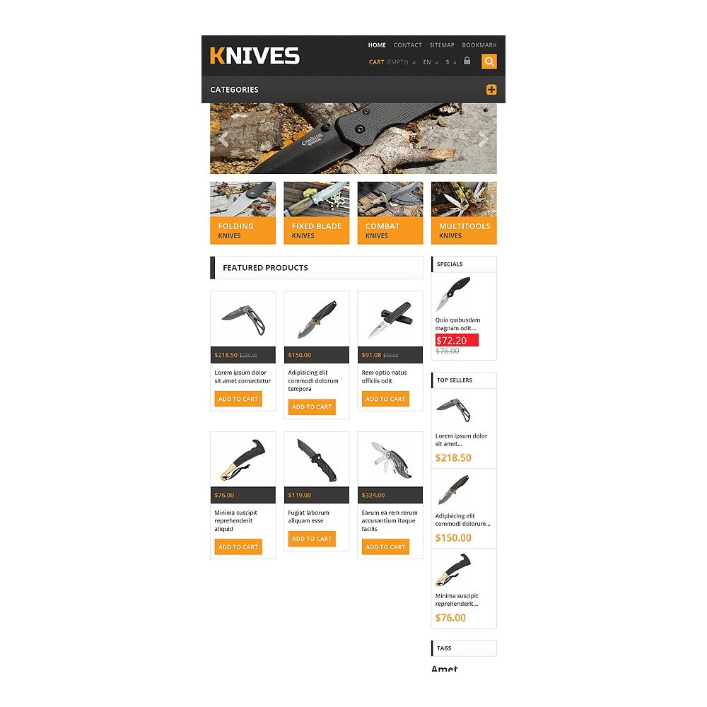 theme - Temas PrestaShop - Responsive Knives Store - 7