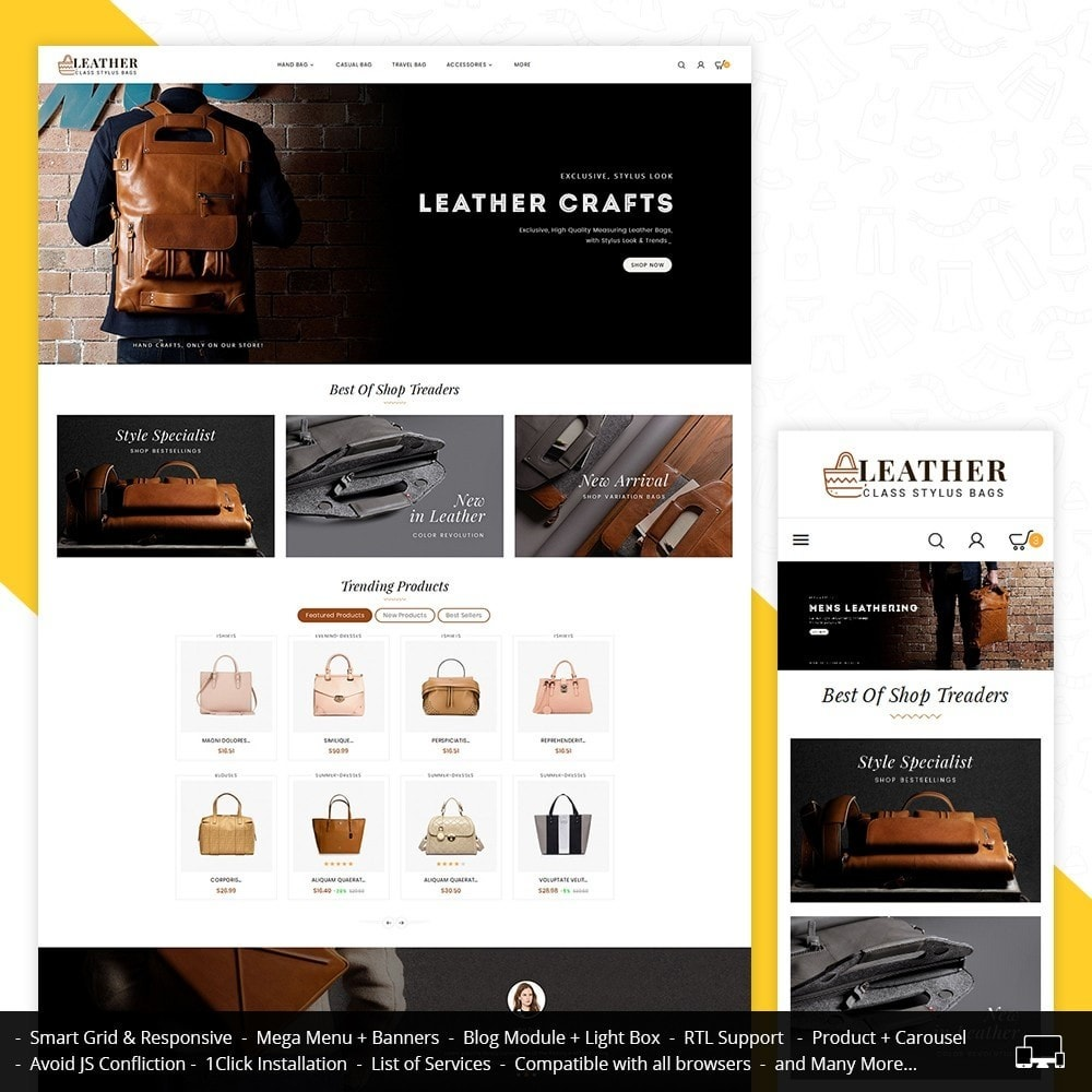 theme - Mode & Chaussures - Leather Bag Crafts - 2