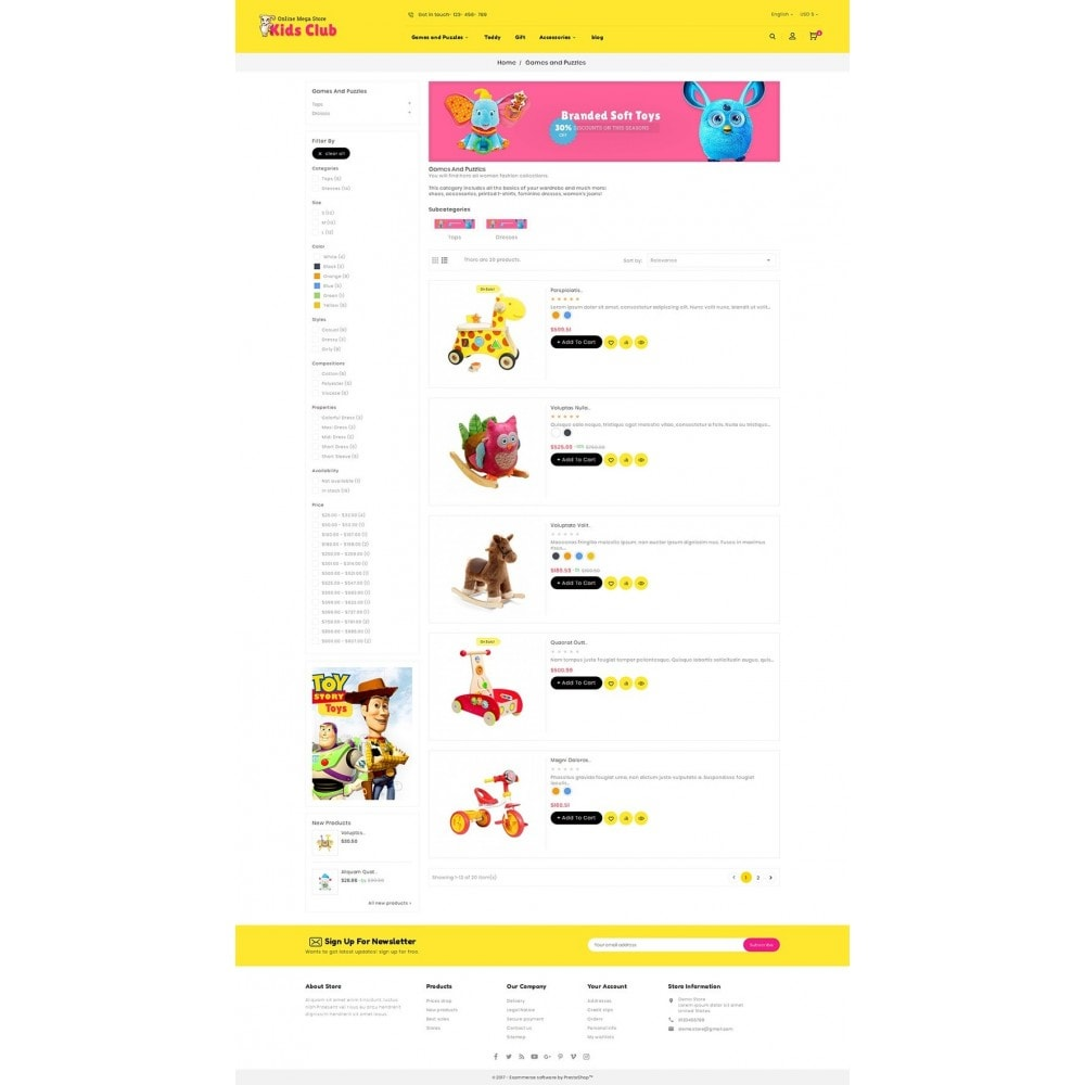 theme - Niños y Juguetes - Kids Toy Club - 5