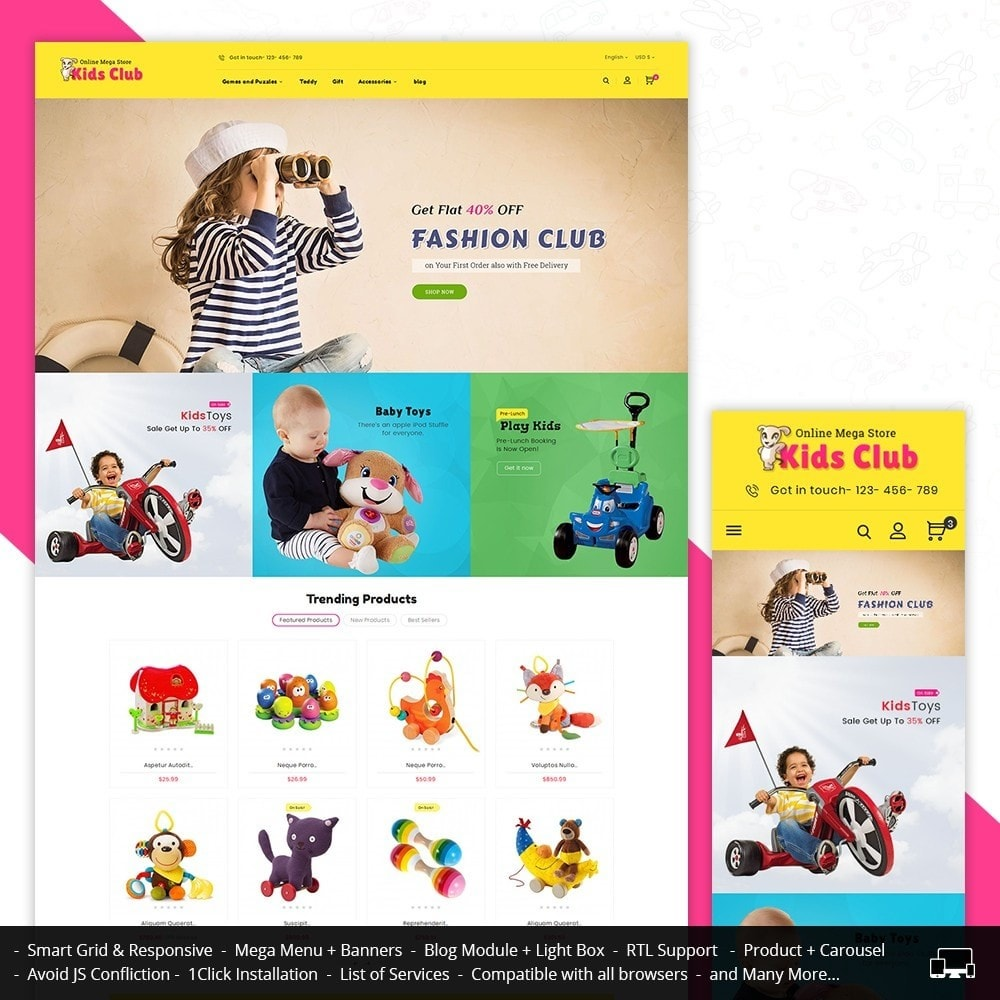 theme - Bambini & Giocattoli - Kids Toy Club - 2