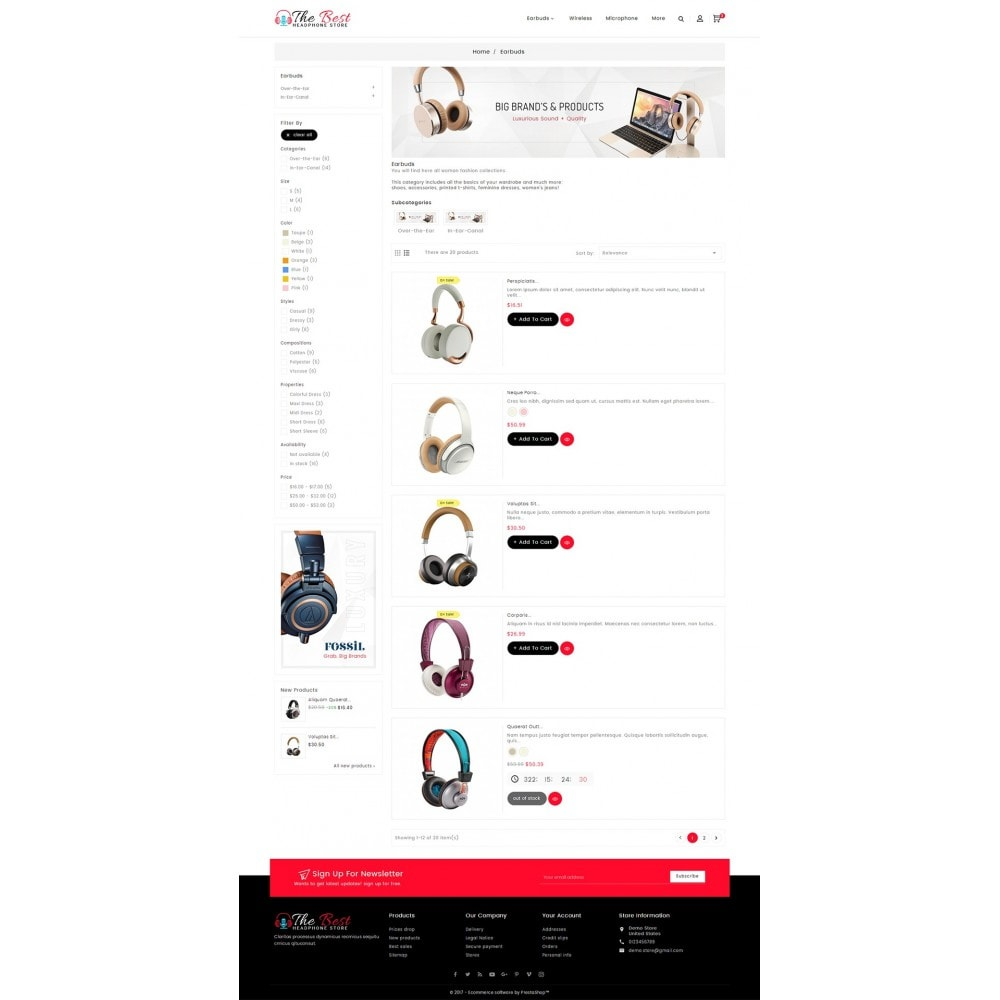 theme - Elektronik & High Tech - Headphone Store - 5