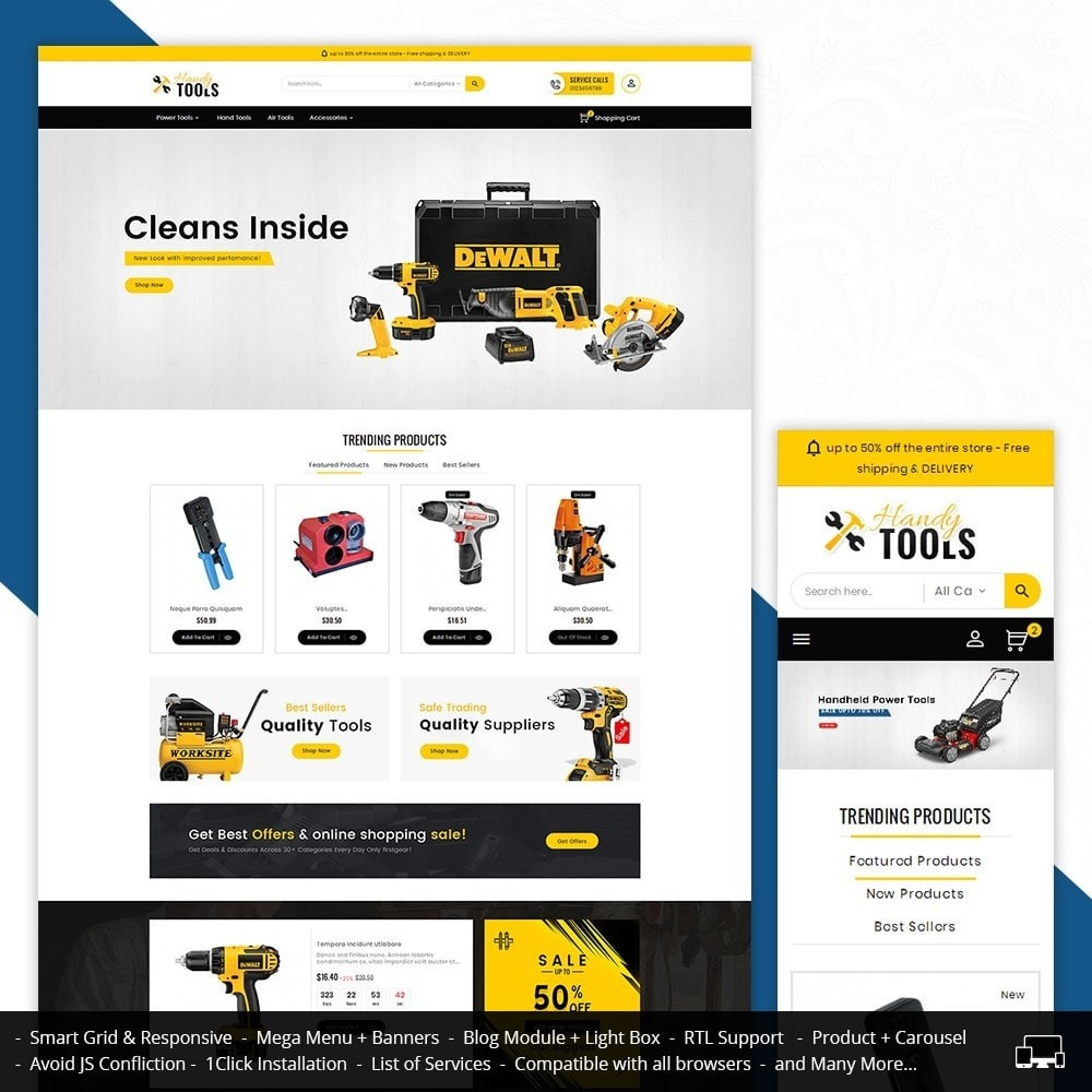 theme - Electronique & High Tech - Handy Tools Store - 2