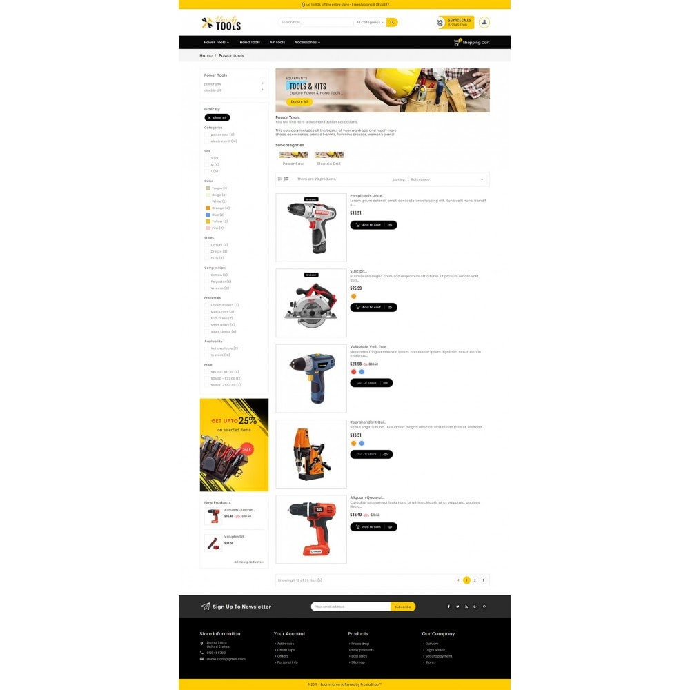 theme - Electronique & High Tech - Handy Tools Store - 5