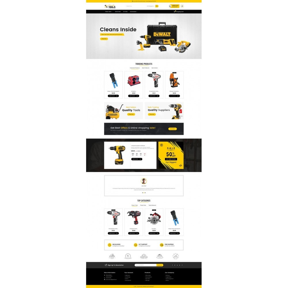 theme - Elettronica & High Tech - Handy Tools Store - 3