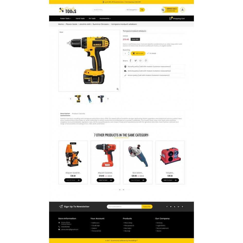 theme - Elettronica & High Tech - Handy Tools Store - 6