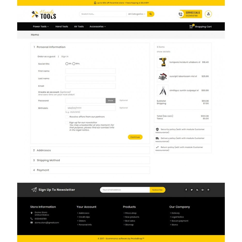 theme - Elettronica & High Tech - Handy Tools Store - 8