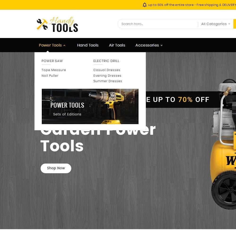 theme - Elettronica & High Tech - Handy Tools Store - 11