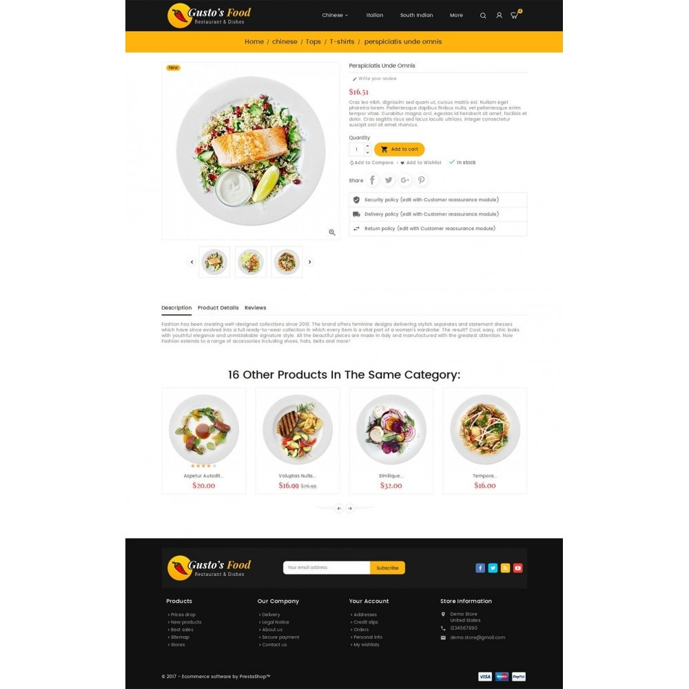 theme - Gastronomía y Restauración - Gusto Food - 6