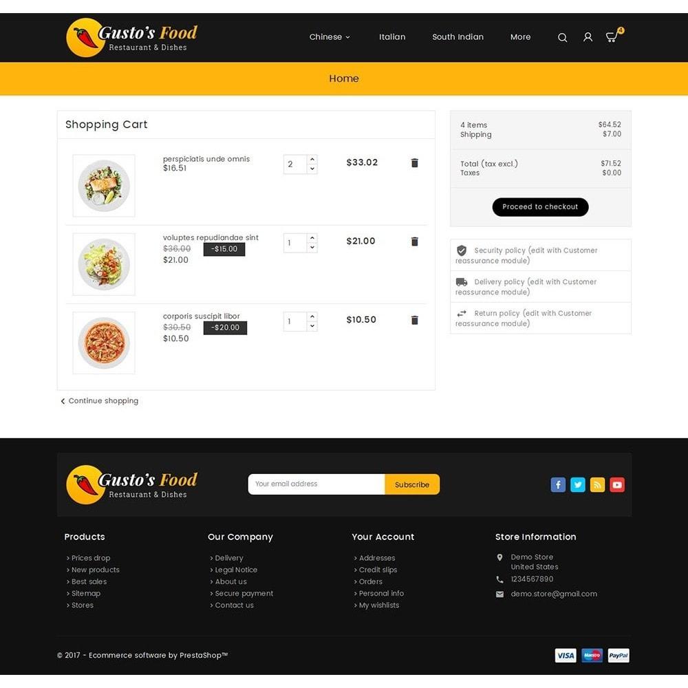 theme - Gastronomía y Restauración - Gusto Food - 7