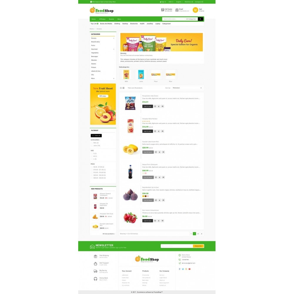 theme - Alimentation & Restauration - Grocery Food Mega Store - 5