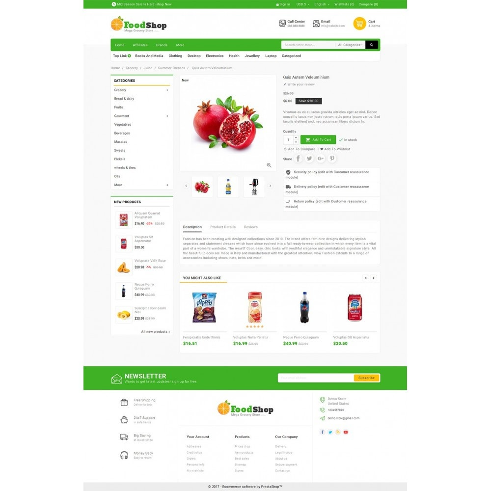 theme - Alimentation & Restauration - Grocery Food Mega Store - 6