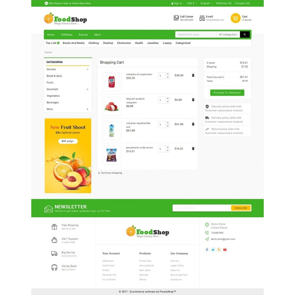 theme - Alimentation & Restauration - Grocery Food Mega Store - 8