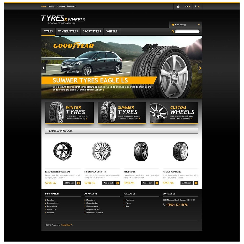 theme - Automotive & Cars - Tyres & Wheels Store - 2