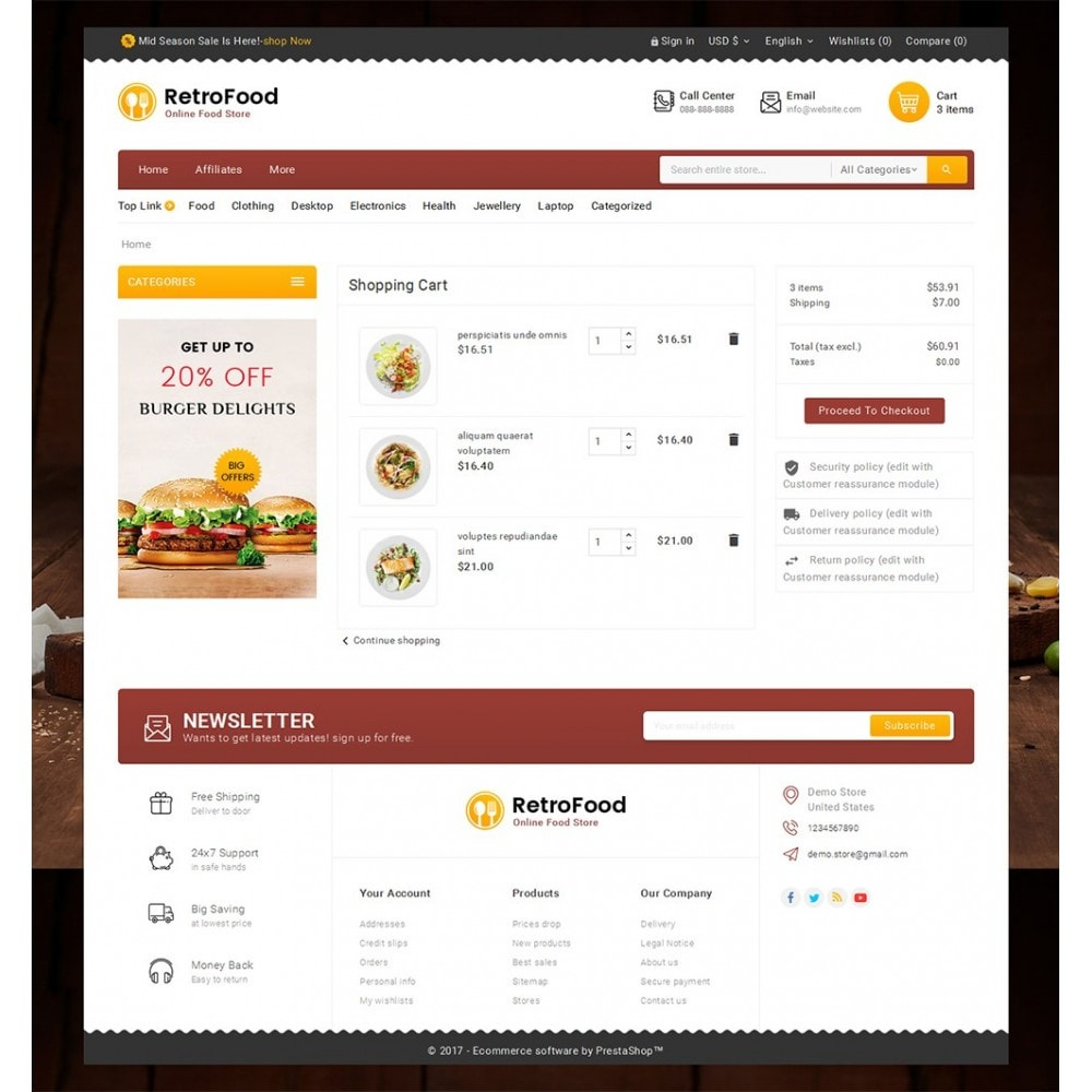 theme - Lebensmittel & Restaurants - Fast Foods Mega Store - 7