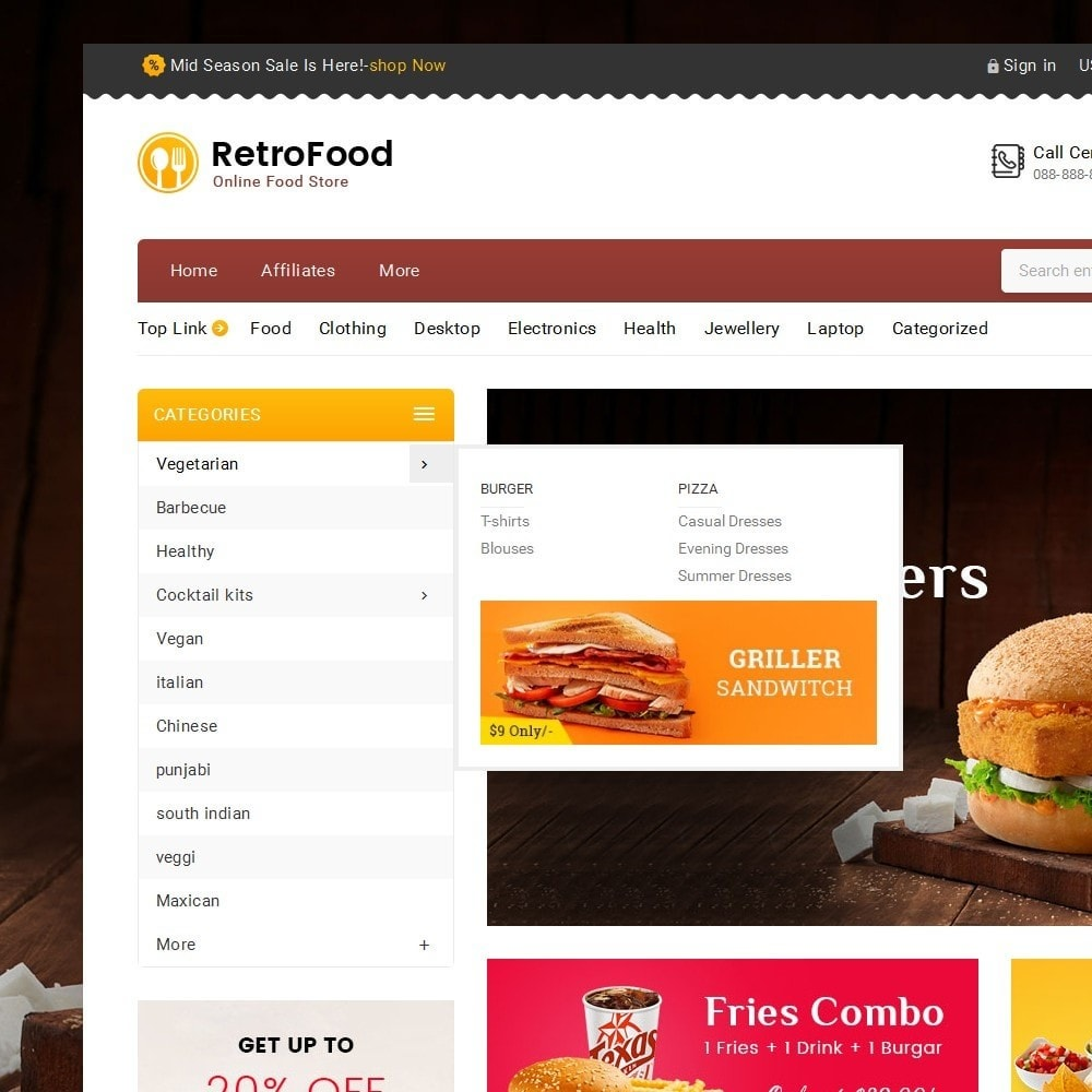 theme - Lebensmittel & Restaurants - Fast Foods Mega Store - 10