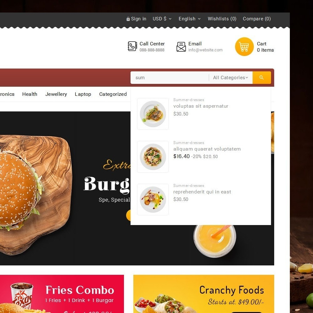 theme - Cibo & Ristorazione - Fast Foods Mega Store - 11