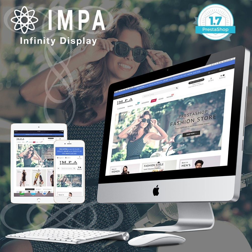 theme - Fashion & Shoes - IMPA - Fashion & Freedom - Infinity Display - 1