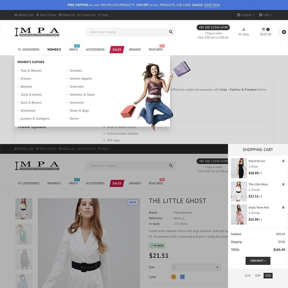 theme - Fashion & Shoes - IMPA - Fashion & Freedom - Infinity Display - 8