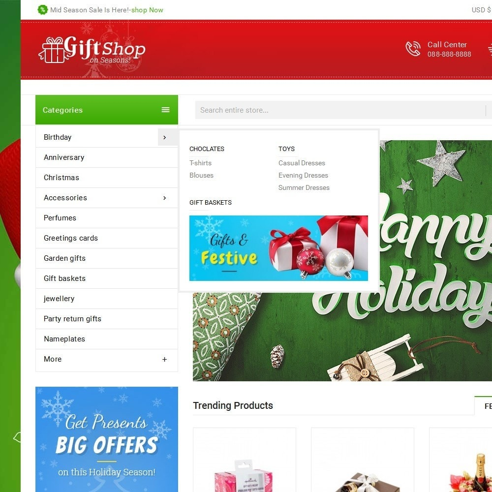 theme - Geschenke, Blumen & Feiern - Christmas Gift Mega Store - 10