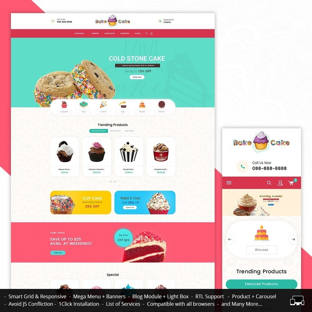 theme - Gastronomía y Restauración - Cake Shop - 2