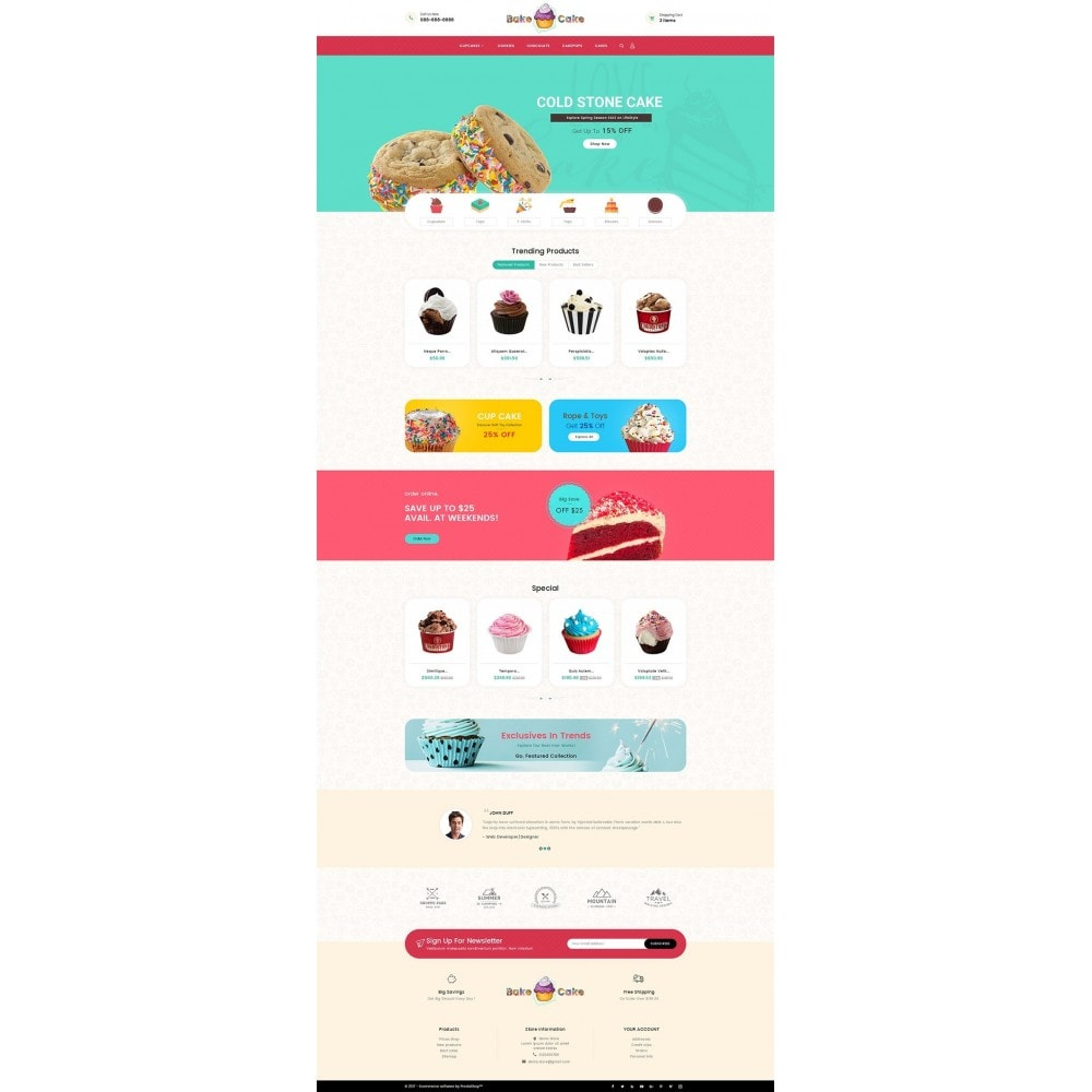 theme - Lebensmittel & Restaurants - Cake Shop - 3