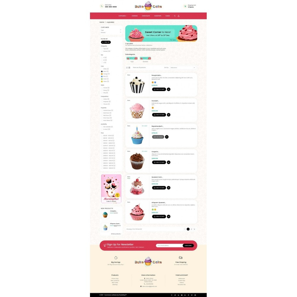 theme - Lebensmittel & Restaurants - Cake Shop - 5
