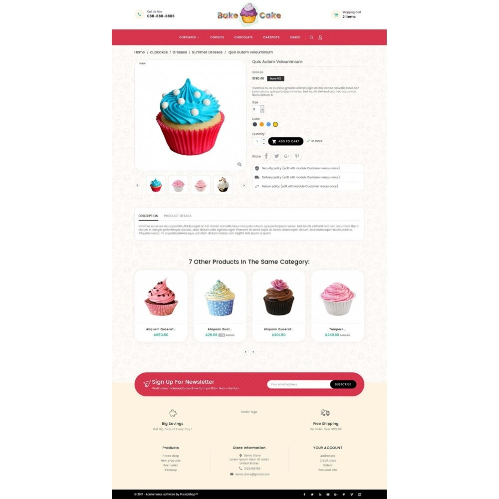 theme - Lebensmittel & Restaurants - Cake Shop - 6